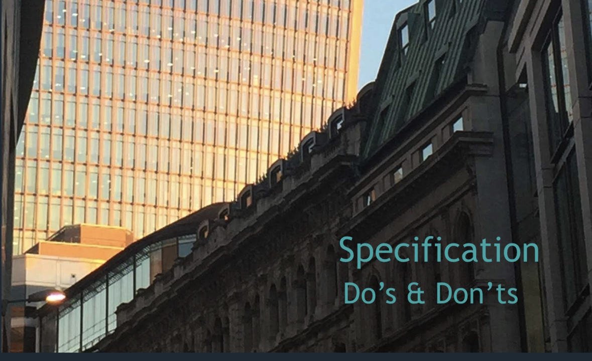 Specification Do's & Don'ts
